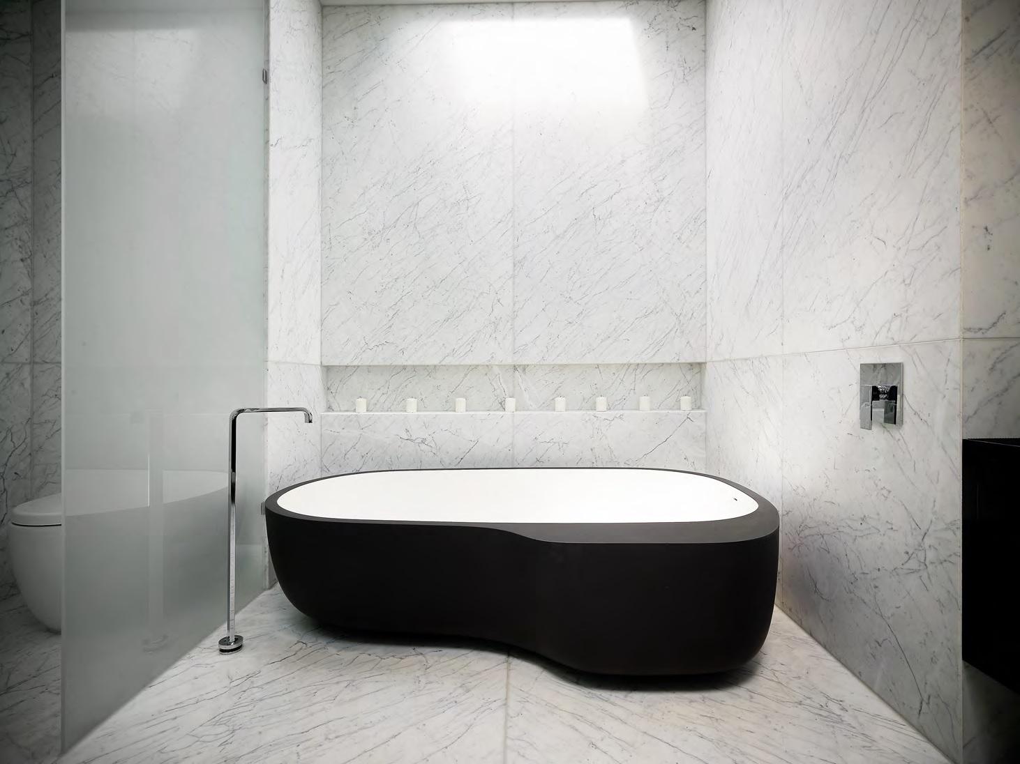 Bathroom with automated lighting
